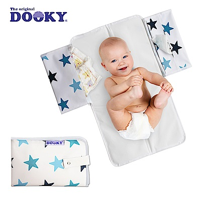 荷蘭dooky-嬰兒外出尿布墊-粉藍星星