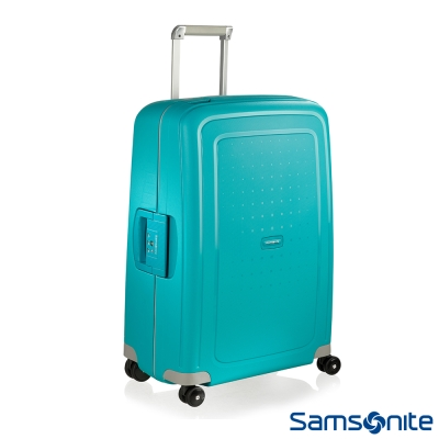 Samsonite新秀麗 25吋S'CURE四輪PP硬殼TSA扣鎖行李箱(水藍)