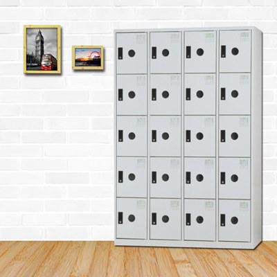 時尚屋 弗雷迪多用途塑鋼製20格置物櫃 寬119x深51x高180cm