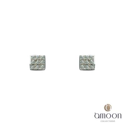 amoon 浪漫艾菲爾系列 芳心 9K金鑽石耳環