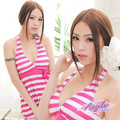 天使霓裳 夏日普普‧繽紛粉色兩件式泳裝(桃)