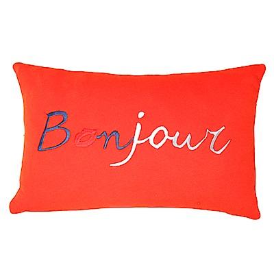 Yvonne Collection巴黎抱枕-橘紅(30x45cm)