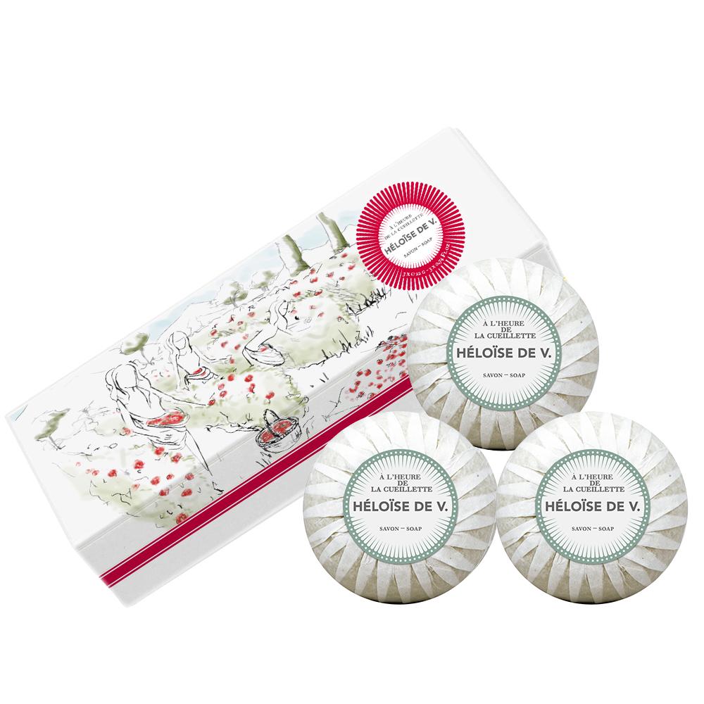 Héloise de V. 摘花時刻 奢寵香水皂 禮盒組100G*3