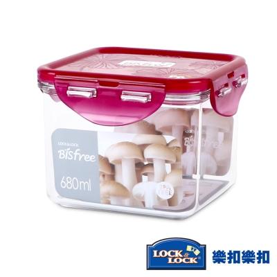 樂扣樂扣 Bisfree系列晶透抗菌保鮮盒-正方形680ML(8H)