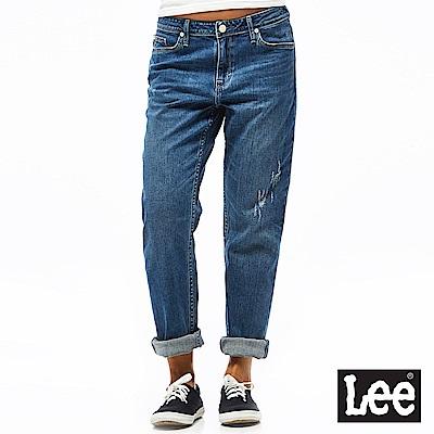 Lee 牛仔褲 401中腰標準合身小直筒牛仔褲-女款