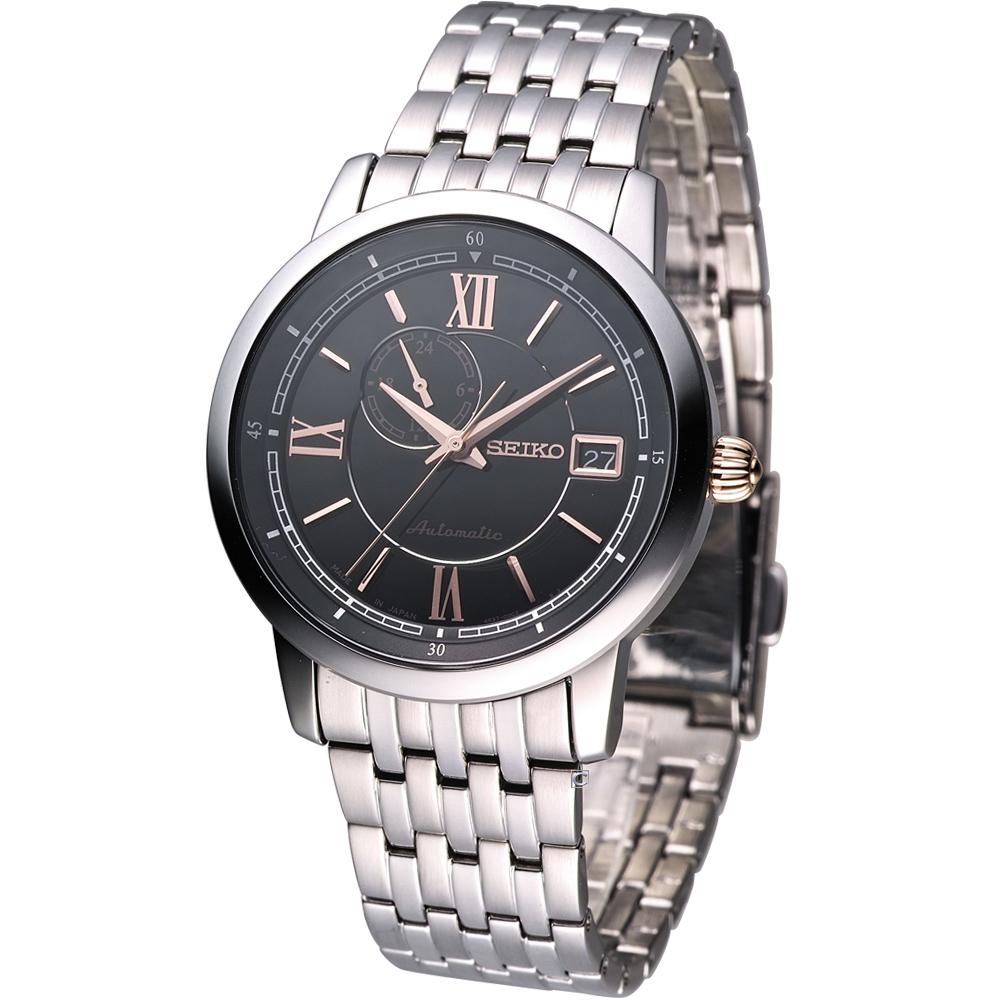 SEIKO 經典都會紳士機械腕錶 4R37-00E0K