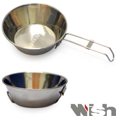 WISH  攜帶式不鏽鋼碗 把手可折疊