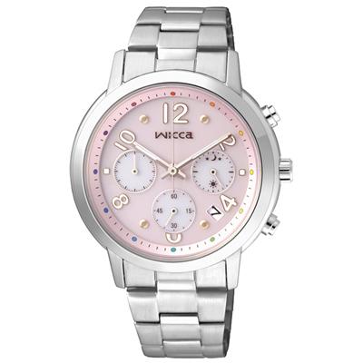 CITIZEN WICCA 彩虹樂園時尚腕錶(KF5-012-91)-粉紅/35mm