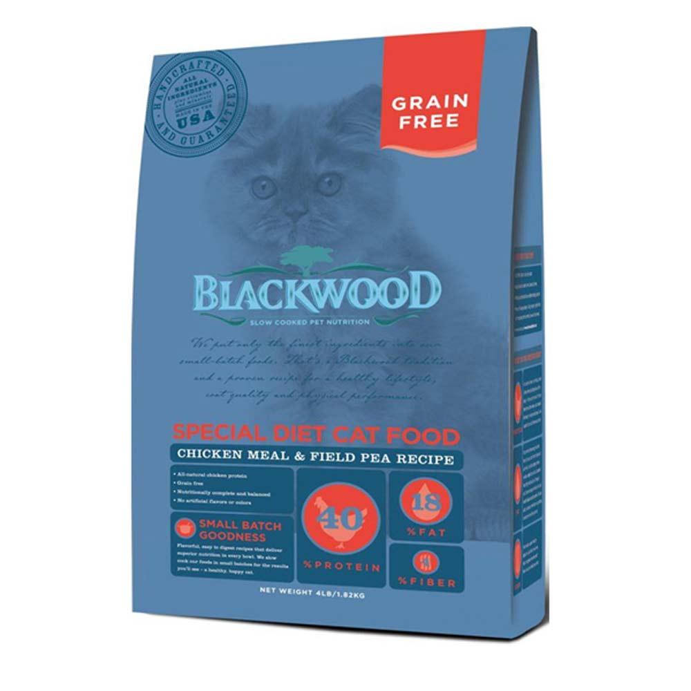 Blackwood柏萊富 特調無穀全齡貓(雞肉+碗豆)4磅 2包