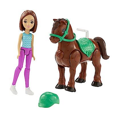芭比帶著玩電動小馬-綠頭盔(4Y+)