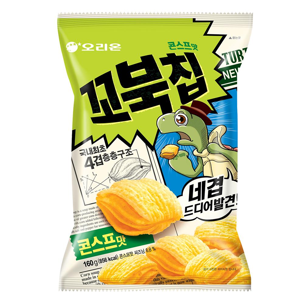好麗友 烏龜玉米脆片 家庭號(160g)