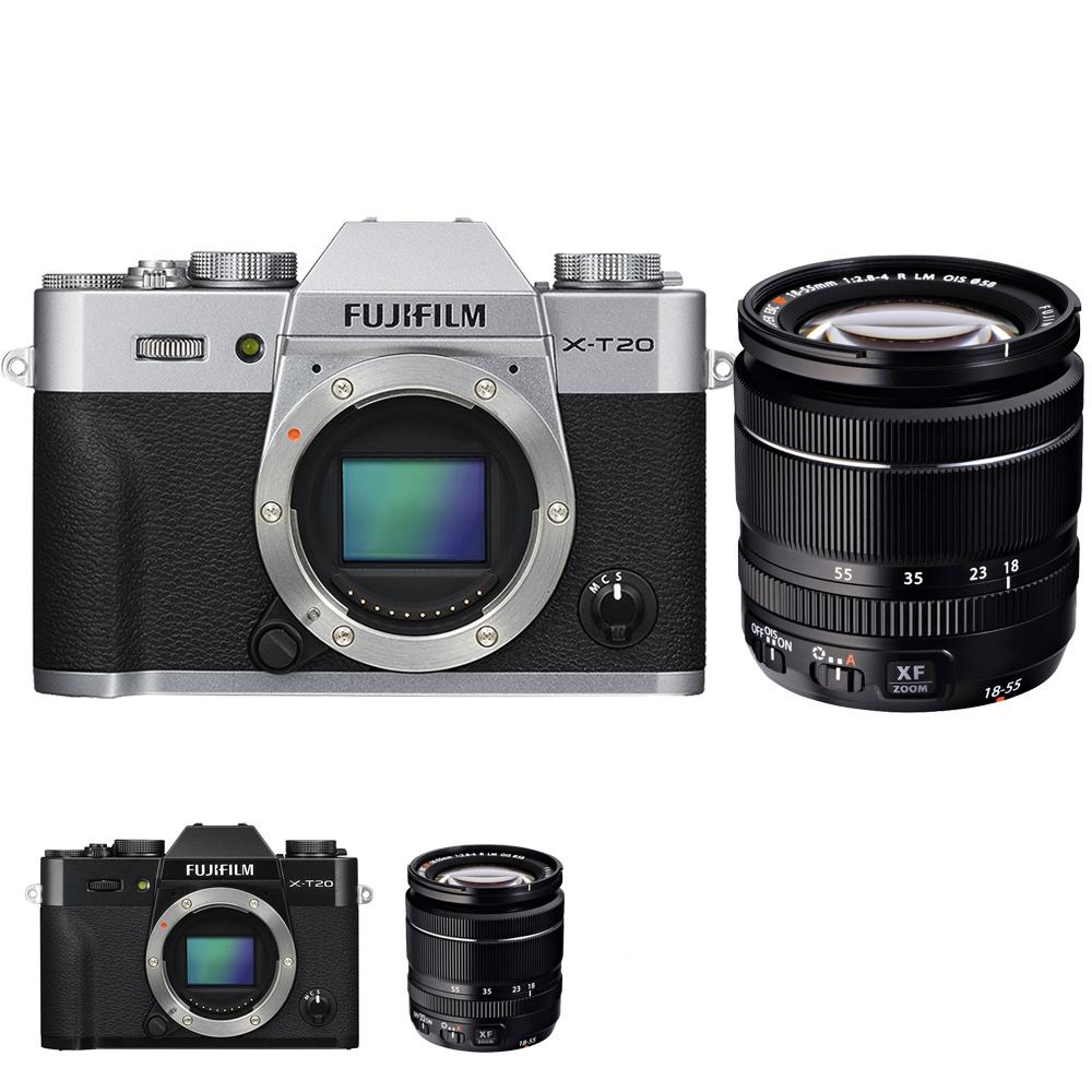 FUJIFILM X-T20+XF18-55mm 黑色 單鏡組*(平輸中文)