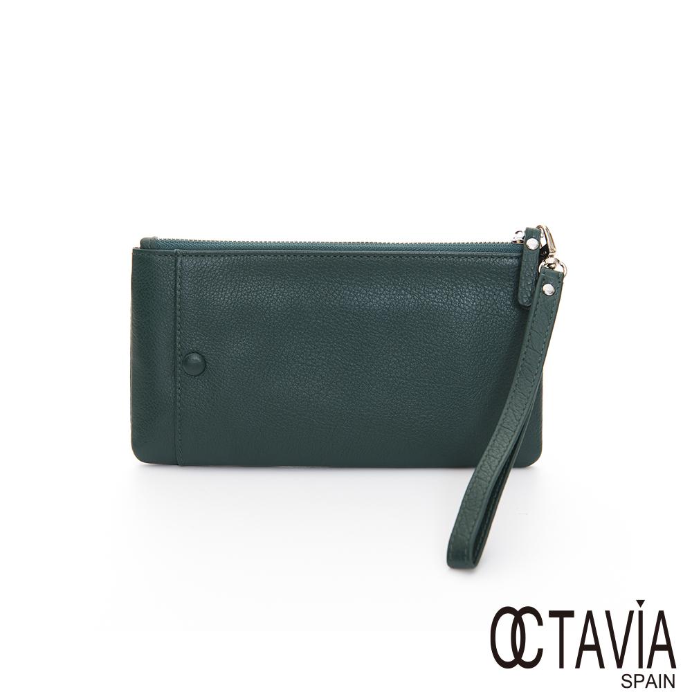 OCTAVIA 真皮 - 我型我素 手機卡片挽式長夾 - 自在藍