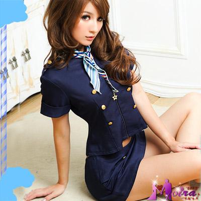 【Moira】愛戀航班!氣質三件式空姐服