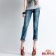 BRAPPERS 女款 Boy Friend Jeans系列-寬版雪花反摺直筒褲-雪花 product thumbnail 1