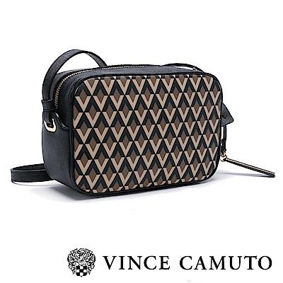 Vince Camuto 簡約菱格紋斜背方包-咖啡