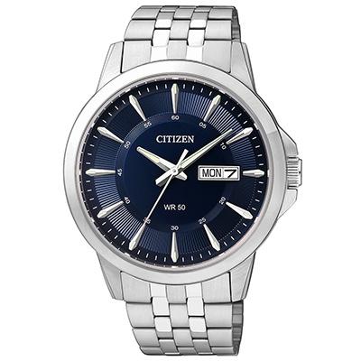 CITIZEN星辰 極品精緻藍色錶面商務男仕手錶(BF2011-51L)-藍/41mm