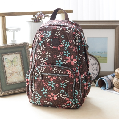 COUNT DUCK美系悠活輕量大容量後背包-CD-016-漾彩花卉