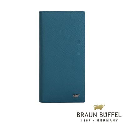 BRAUN BUFFEL - RUFINO-C洛非諾系列15卡零錢袋長夾 - 蔚藍