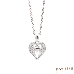 J'code真愛密碼 雙子座守護-天使之翼純銀女墜子 送項鍊