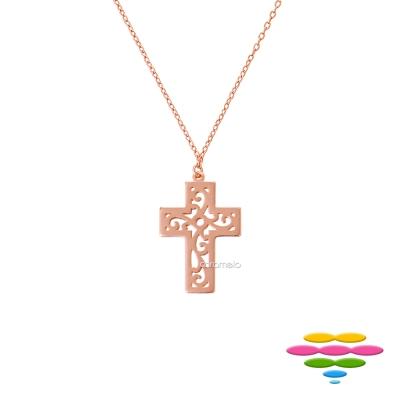 彩糖鑽工坊 十字架手鍊 銀鍍玫瑰金項鍊 桃樂絲 Doris系列