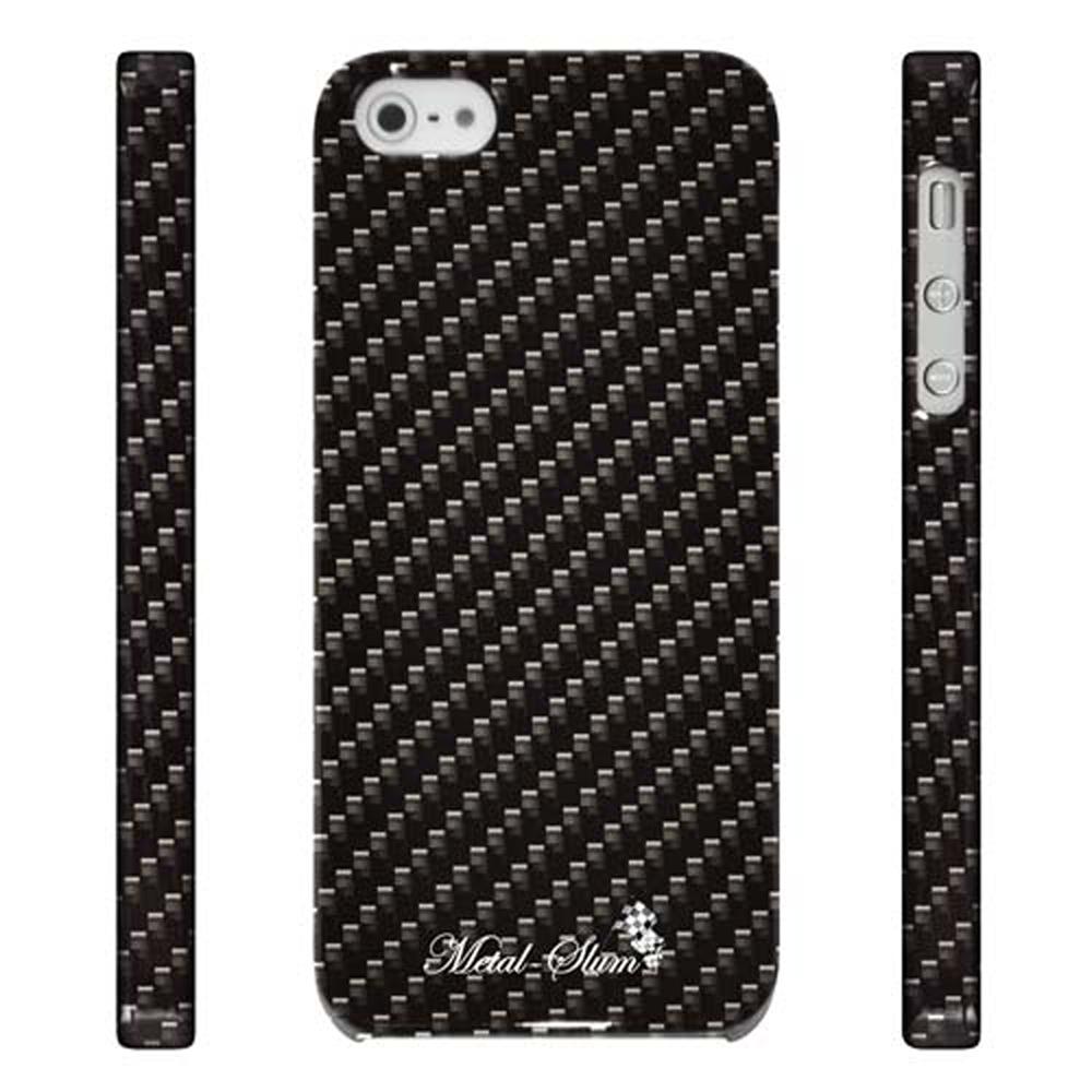 Metal-Slim Apple IPHONE 5/5S/SE 彩繪設計-卡夢紋