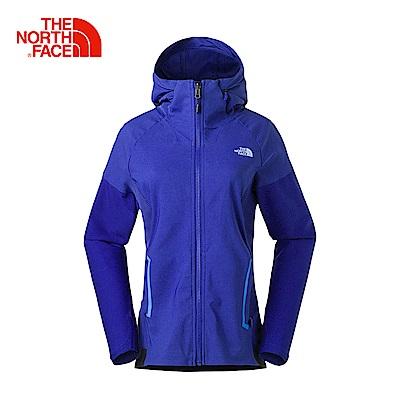 The North Face北面女款藍色防風透氣運動外套