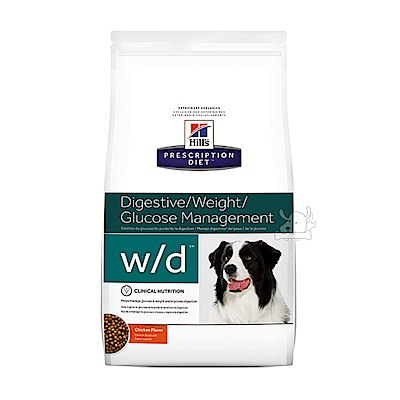 Hills 希爾思 體重管理 w/d 犬用處方乾糧(8602)27.5磅 X 1包