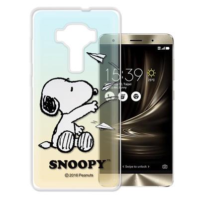 史努比 華碩 ZenFone3 Deluxe 5.7吋 ZS570KL漸層手機殼...