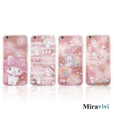 三麗鷗iPhone 6/6S Plus施華落世奇水鑽防摔空壓保護套_美樂蒂