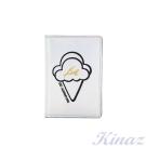 KINAZ 甜美回憶護照夾-炫光銀-酷甜筒系列