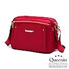 (活動)DF Queenin日韓 - 輕盈氣質尼龍款斜背式美包-紅色