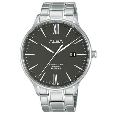 ALBA 雅柏 簡約羅馬數字腕錶(AS9E93X1)-黑/43mm