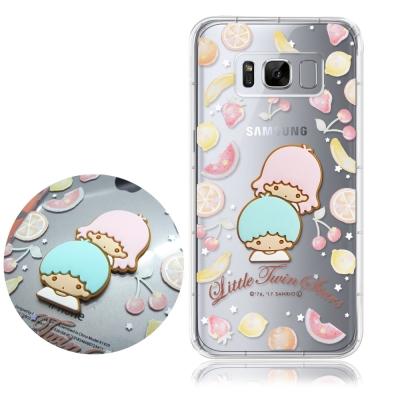 正版授權 雙子星 SAMSUNG Galaxy S8立體大頭空壓手機殼(水果雙子...