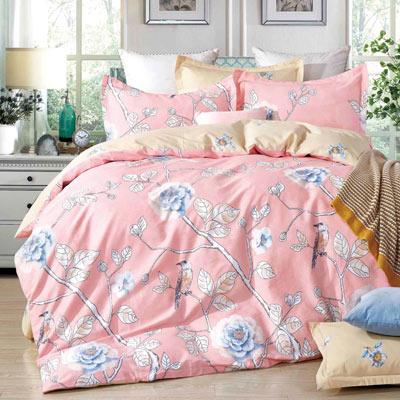 Grace Life 春滿枝頭 精梳純棉加大涼被床包四件組