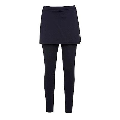 FILA 女萊卡針織裙褲-黑5PNS-1607-BK