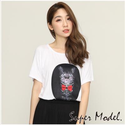 春色印花T恤-共7色(F可選)     名模衣櫃
