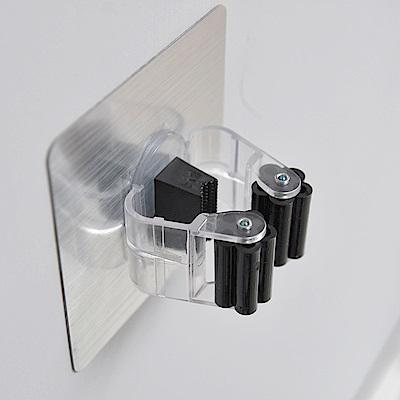 樂貼工坊 工具夾/拖把夾/掃把夾/金屬貼面(2入組)-8.8x4.5cm