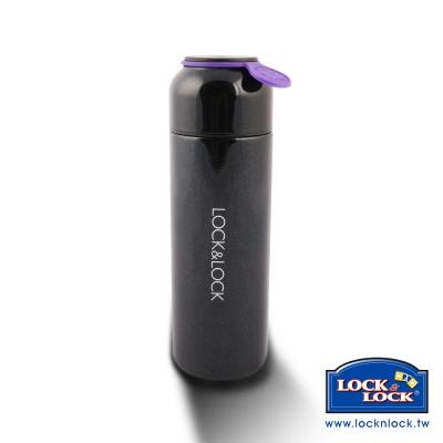 樂扣樂扣 Hot&Cool系列心情不鏽鋼保溫瓶-380ML(黑)