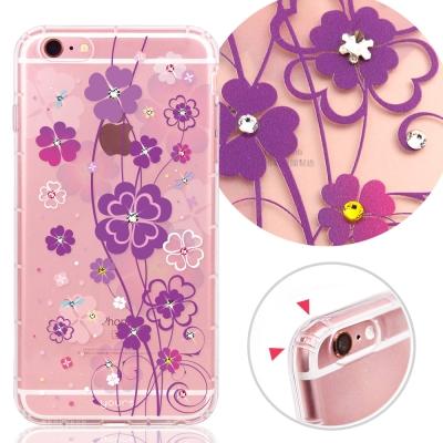 YOURS APPLE iPhone 6s+ 奧地利水晶彩繪防摔貼鑽手機殼-小幸...