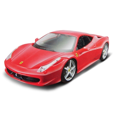 Ferrari 458 Italia 1:24 合金組裝車 (紅)