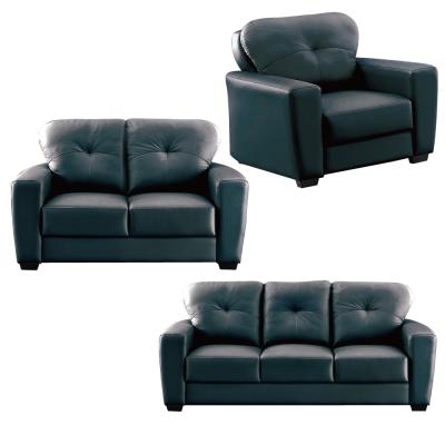 沙發-1-2-3人座組合-采麗-黑色皮革沙發-品家
