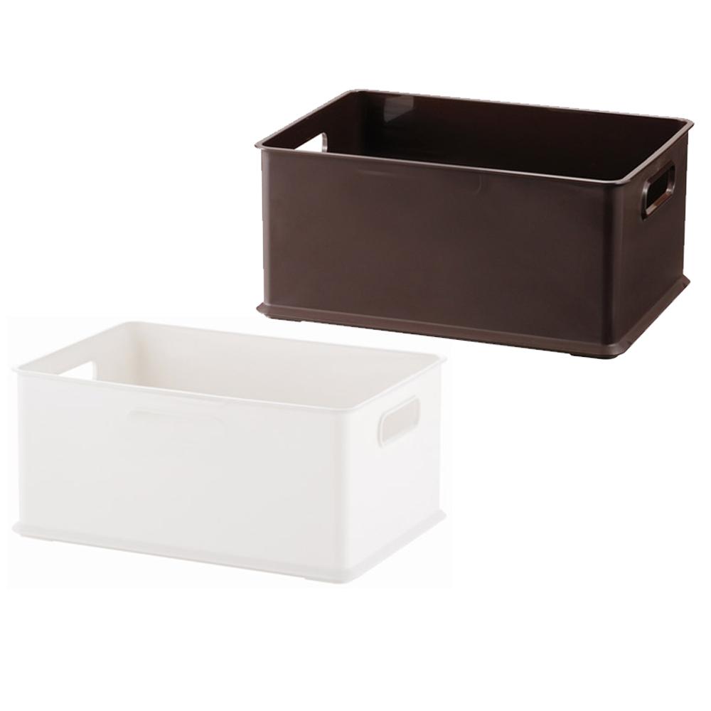 Home Feeling 塑膠收納盒4/1款-2入(2色)-26x19x12cm