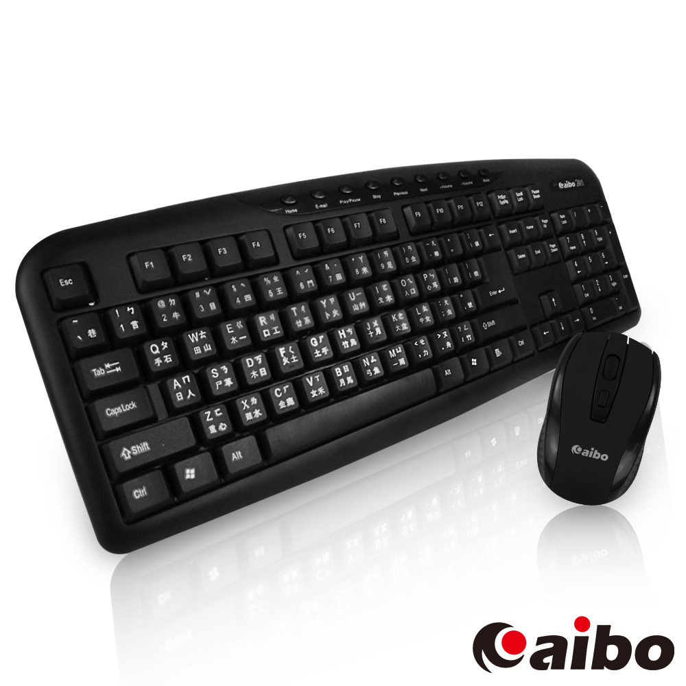 aibo M04 2.4G無線多媒體鍵盤滑鼠組