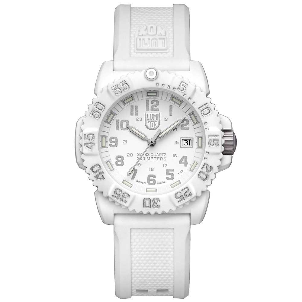 LUMINOX 海豹部隊指標系列經典腕錶-白x銀時標/38mm