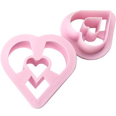 IBILI Sweet大小甜甜圈模2件(愛心)