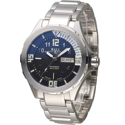 BALL 波爾 Engineer MasterII 300米潛水機械腕錶-黑/42mm
