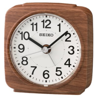 SEIKO 日本精工 滑動式秒針 靜音 小鬧鐘(QHE167B)-咖啡/9.1X8.8cm
