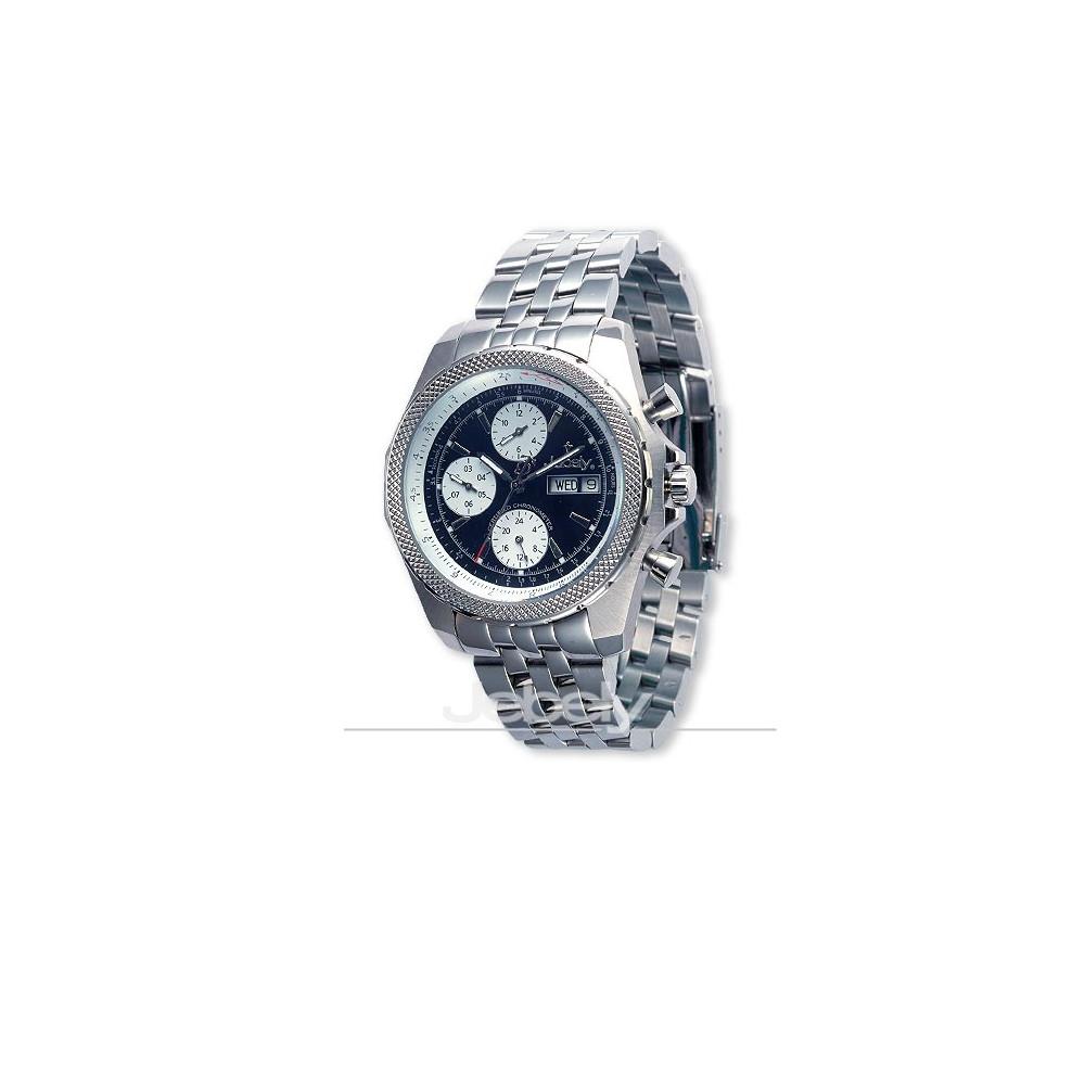 Jebely瑞士機械錶_伯尼納快車系列_側三眼造型年曆等多功能機械錶-黑/42mm