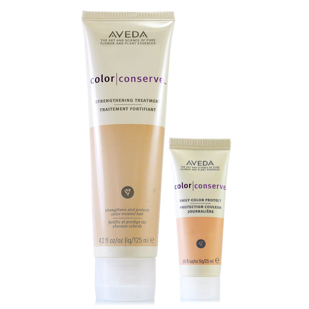 AVEDA 護色強效護髮乳125ml+護色亮澤鎖色精華25ml